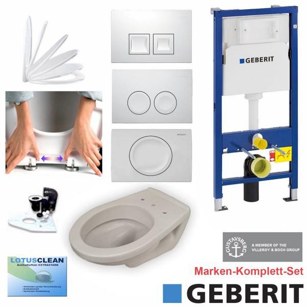 Geberit Duofix Vorwandelement + Gustavsberg WC + Delta + WC-Sitz + Beschichtung