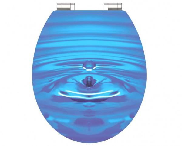 MDF HG WC Sitz BLUE WATER mit Absenkautomatik