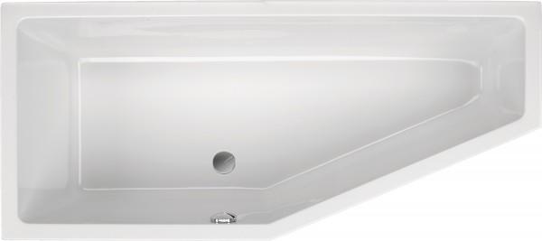 Raumsparwanne Concetta 170×75cm links, weiß