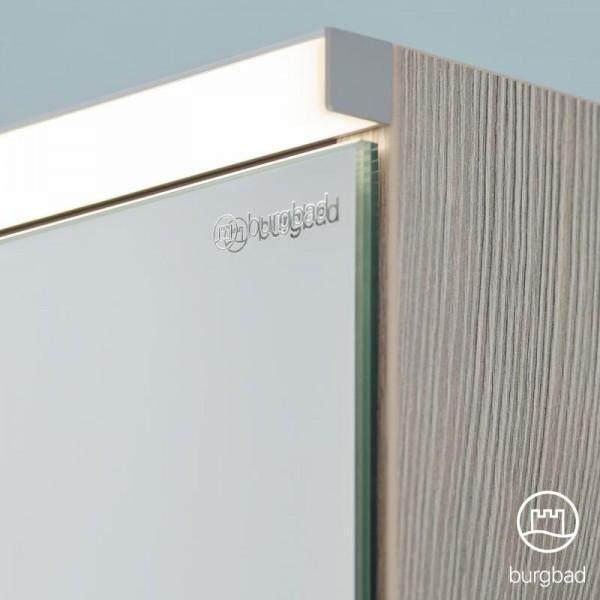 Burgbad Eqio Spiegelschrank mit LED-Beleuchtung mit 2-Türen weiß glanz, ohne Waschtischbeleuchtung