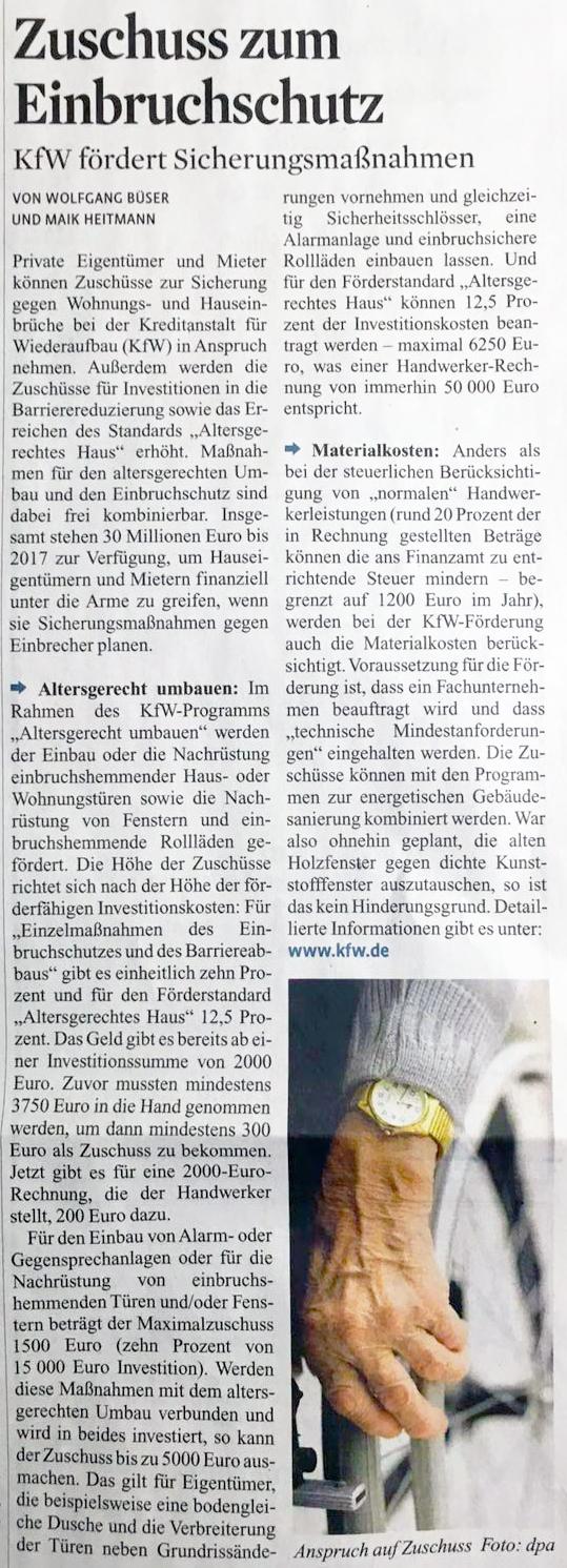 Zeitungs-Artikel-KFW