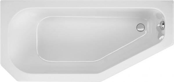 Raumsparwanne Priscilla 160×75cm links, weiß