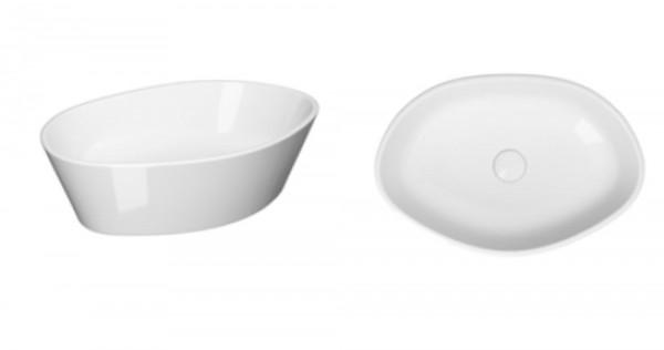 Ference Design Aufsatz-Waschtisch 525 × 350mm mit LotusClean-Beschichtung, oval