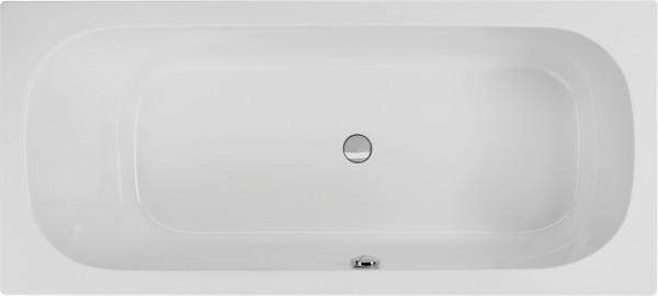 Rechteckwanne Bassilio 180×80cm links, weiß