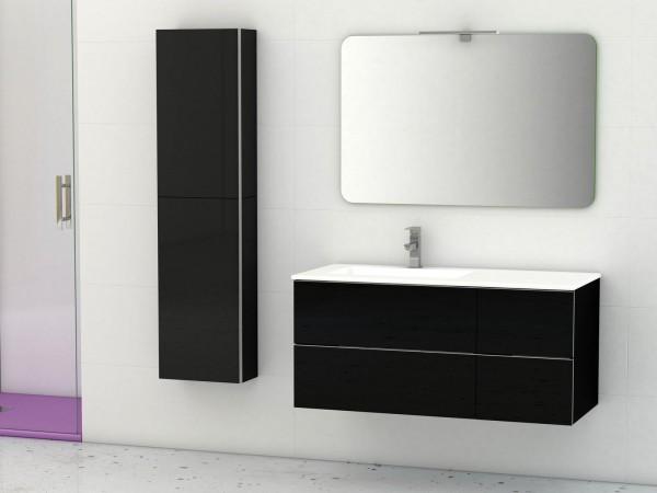 Cosima DUO Waschtisch mit Unterschrank 105cm schwarz