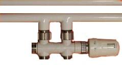 ECAM Multiblock-Set, Durgangsform mit TK (Komplett), weiß