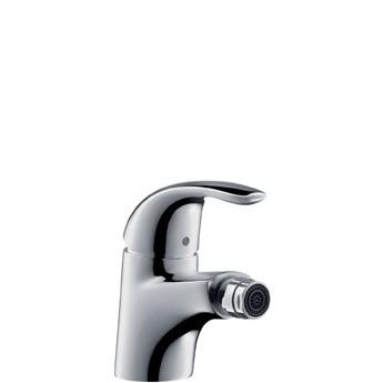 Bidet-Einhebelmischer Focus E chrom, mit Ablaufgarnitur