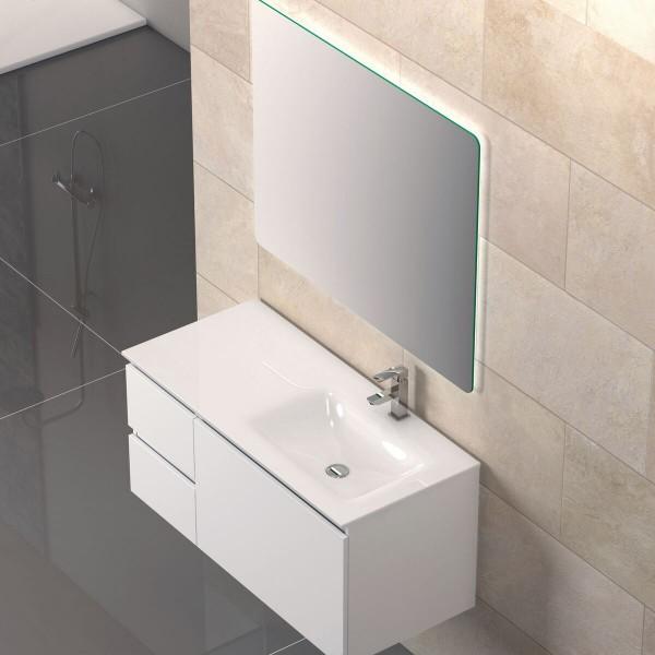 Cosima Air Waschtisch mit Unterschrank 105cm weiß