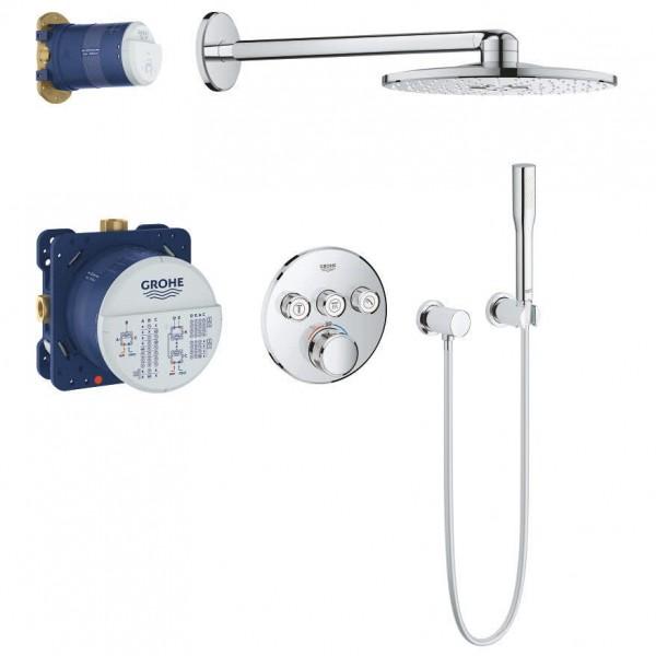 Grohtherm SmartControl Duschsystem UP mit Rainshower 310 SmartActive, rund