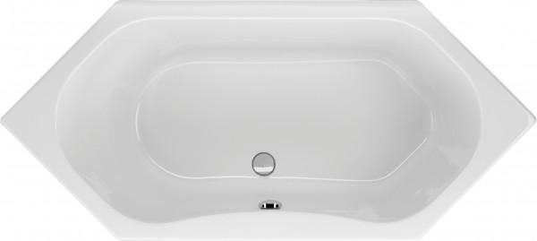 Sechseckwanne Galeno 180×80cm, weiß