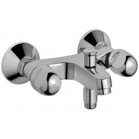 Ideal Standard Alpha Zweigriff-Brausearmatur, chrom, Aufputz