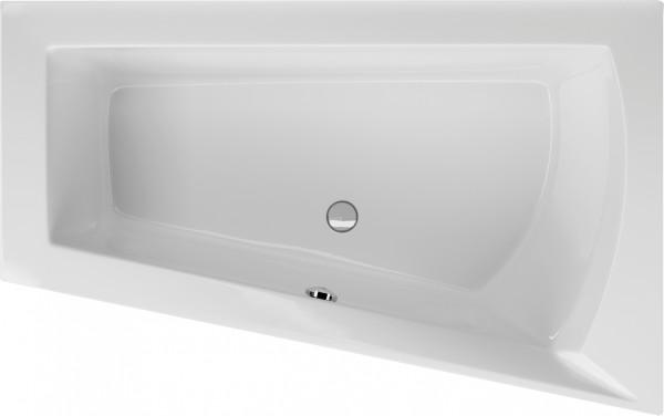 Raumsparwanne Fulvia 170×100cm rechts, weiß