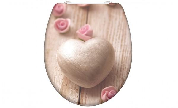 WC Sitz ROMANTIC HEART mit Absenkautomatik