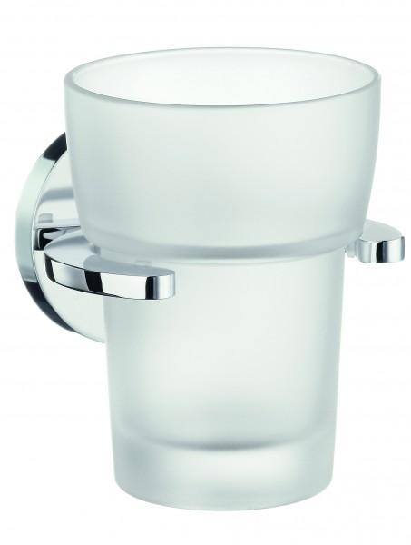 Zahnputzbecherhalter mit mattem Glas LOFT