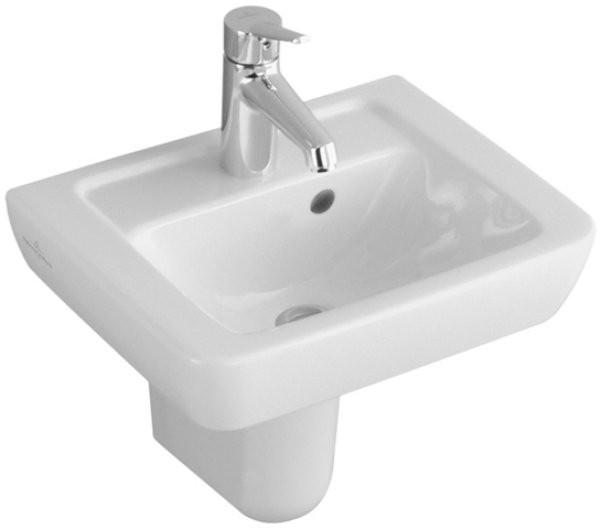 V&B Handwaschbecken SUBWAY 45 × 35 cm, weiß, 1 Hahnloch