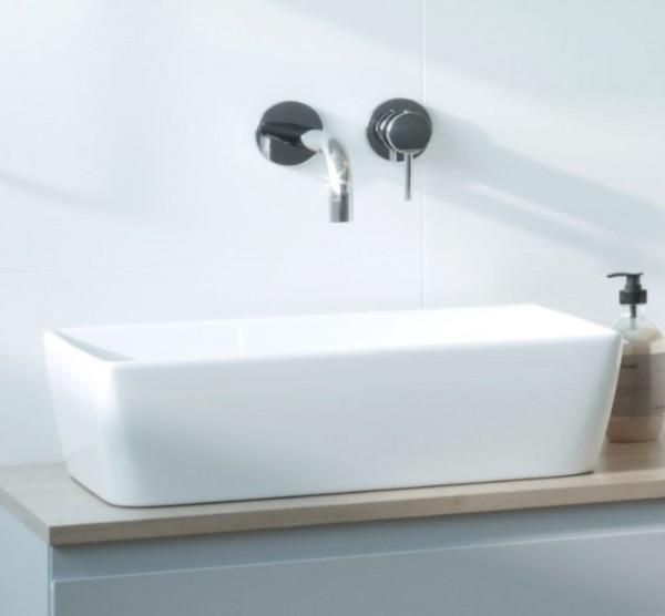 Ference Design Aufsatz-Waschtisch 605 × 360mm mit LotusClean-Beschichtung, rechteckig
