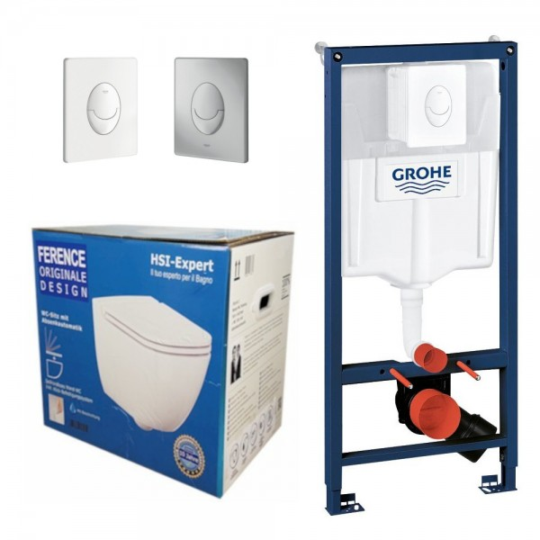 Grohe Rapid 3in1 + Ference WC + Drückerplatte + WC-Sitz